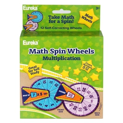 Math Spin Wheels Mutiplication - Numbers 0-12