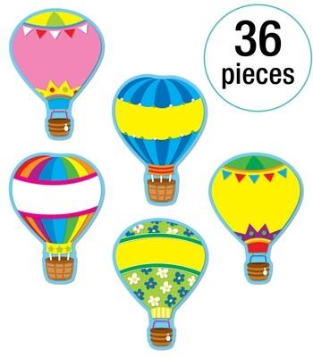 Cut Outs Hot Air Balloons Asst. (pk-36)