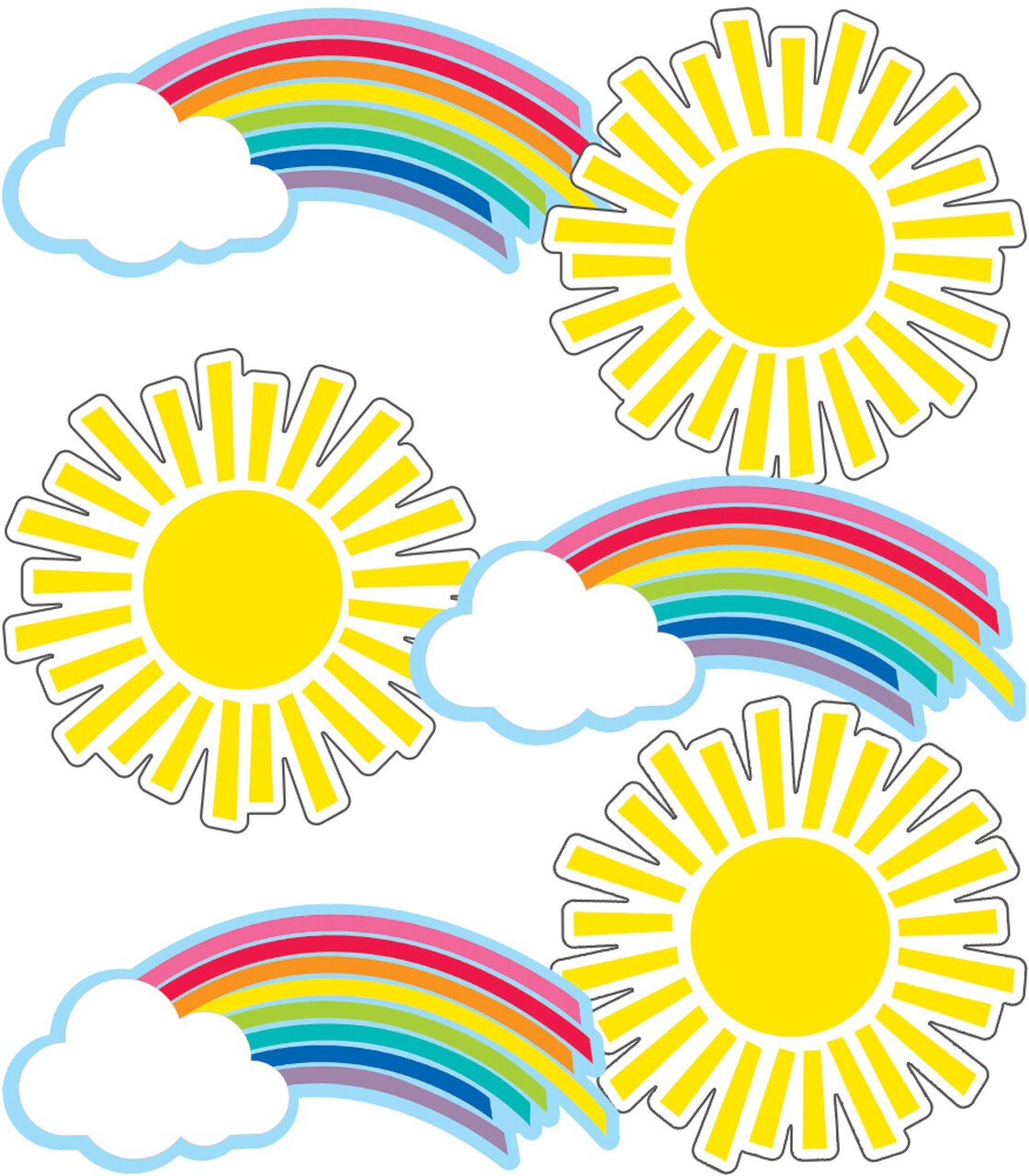 Accents Rainbows & Suns (pk-36)