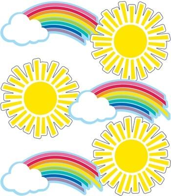 Accents Rainbows & Suns (pk-36)