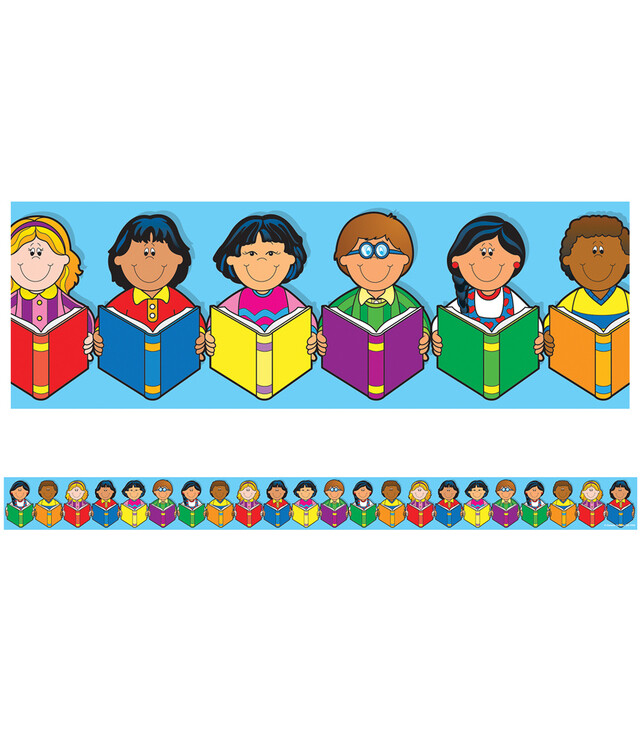 Borders Multicultural Kids with Books