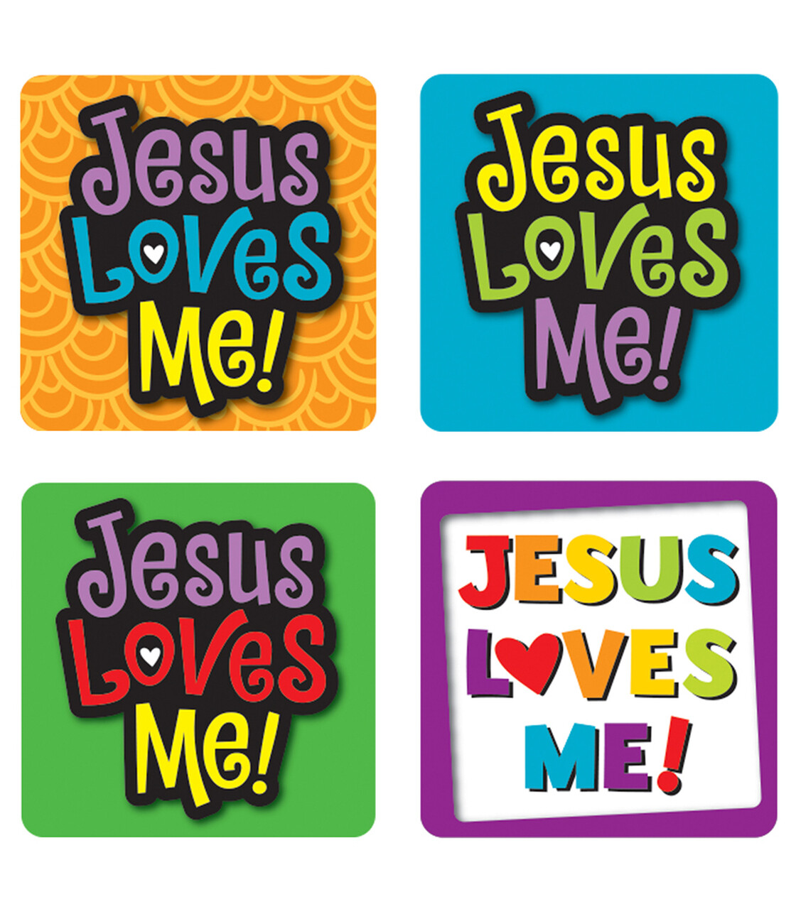 Stickers Jesus Loves Me! (pk-120)