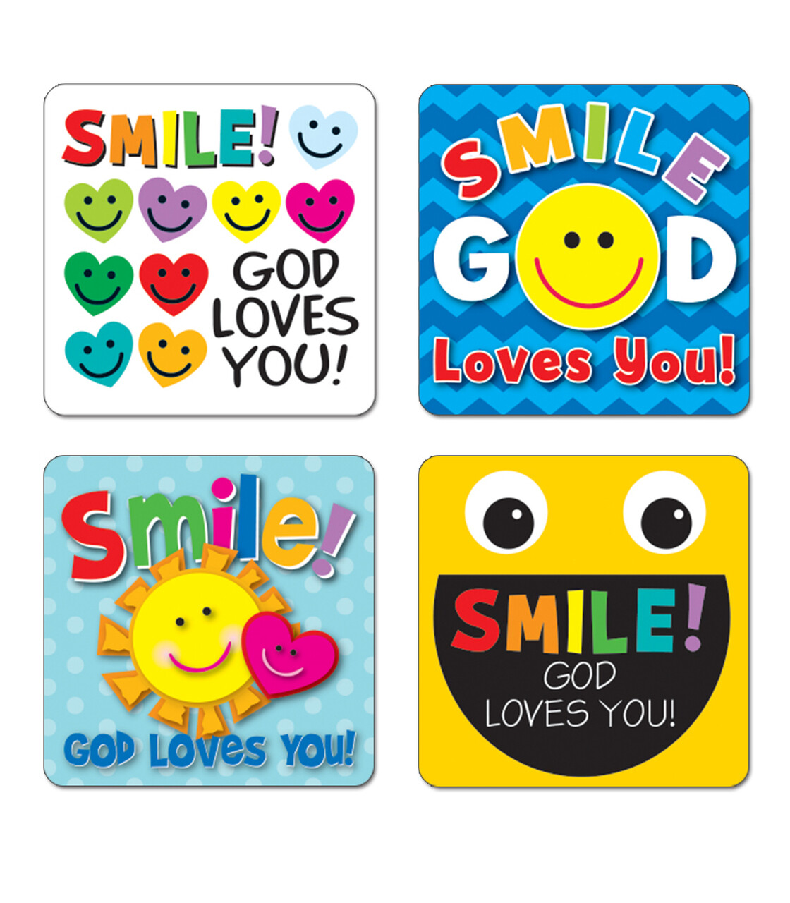 Stickers Smile, God Loves You! (pk-120)