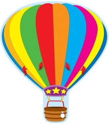 Cutout Hot Air Balloon 2-Sided