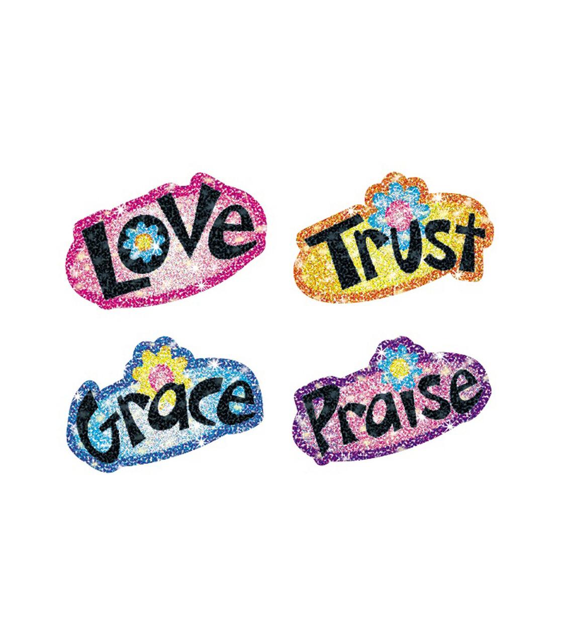 Stickers Faith Words (pk-120)