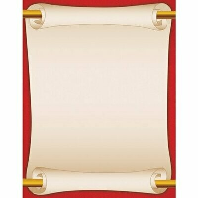 Paper Red Scroll (pk-25)