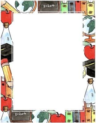 Computer Paper Back To School design [pk-25]