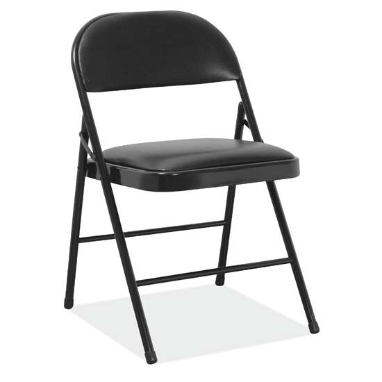 Steel Folding Chair with Padded Seat and Back