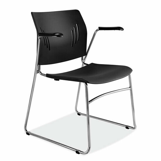 Stackable Side Chair with Chrome Frame
