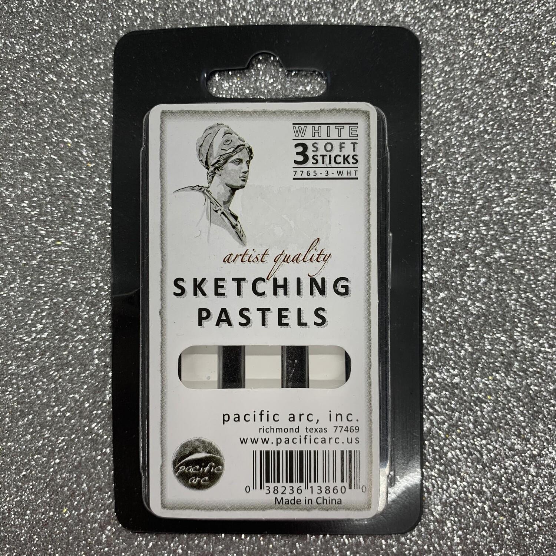 Sketching Pastels White (pk-3)