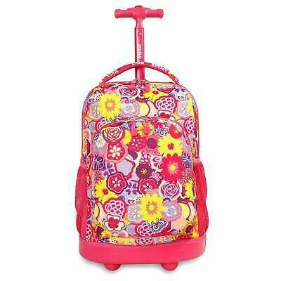 Rolling backpack Sunny Poppy Pansy