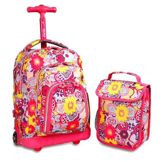 LOLLIPOP KIDS ROLLING BACKPACK WITH FREE LUNCH BAG
