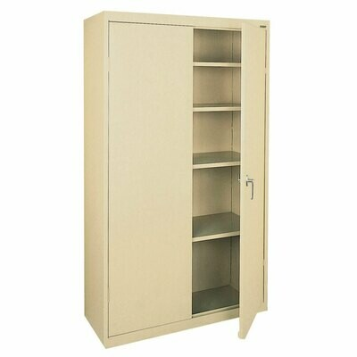 "Storage Cabinet 36"" x 72"" Metal Basic Color: Putty"