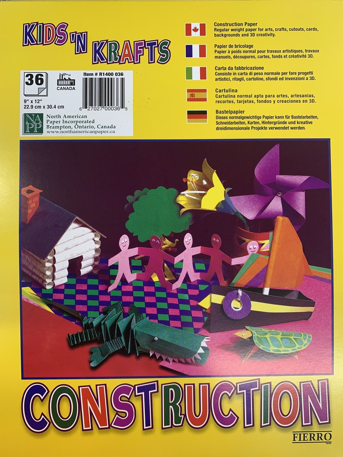 Construction Paper Pad 36 sheets