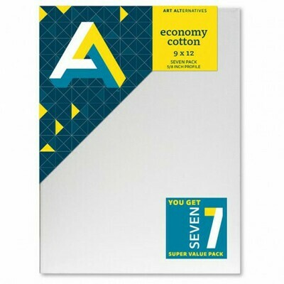 Canvas Stretch 9x12 Value 7-Pack