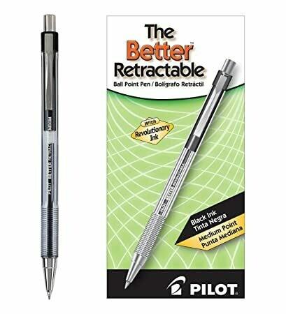 Pilot/ Better Retractable Ballpoint Pen, Black , Medium Point