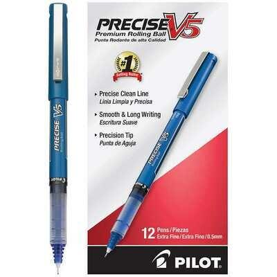 Pilot / Precise V5 Premium Rolling Ball, Extra Fine, Blue