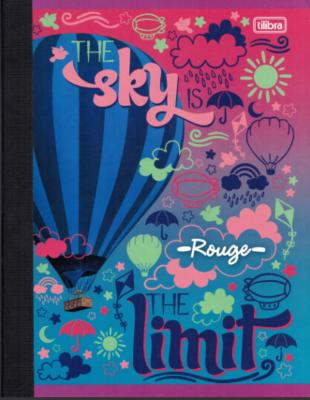 Notebook Lrg. Rouge 200 pgs