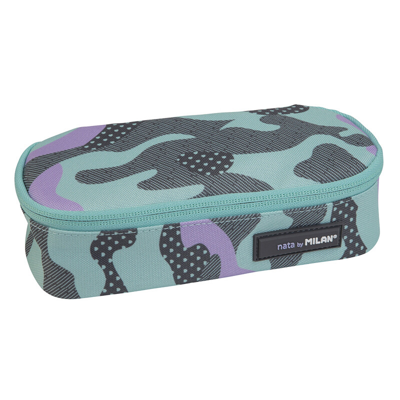 Pencil Case Milan- turquoise camouflage