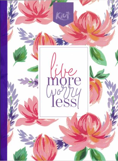 Notebook Jungle Kiut Lrg (200 pgs) Live More, Worry less
