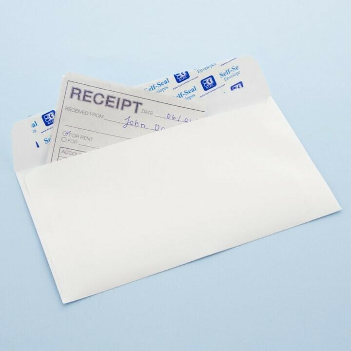BAZIC / Envelope #6 3/4 Self-Seal White (100/Pack)