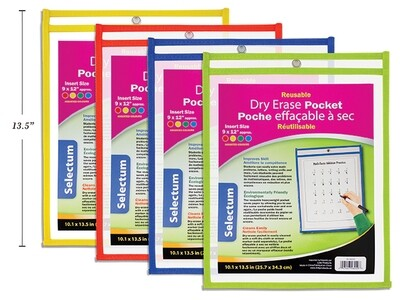 """Dry Erase Pockets Reusable - 9""""x 12"""""""