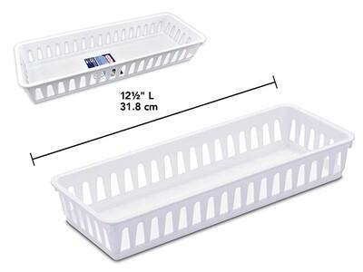 Slim Storage Tray - white