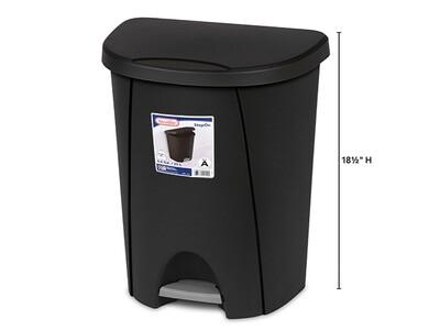 25 L Step On Wastebasket - Black