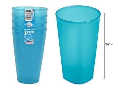 Set of 4 glasses - blue