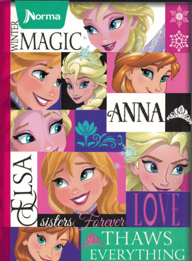 Notebook Frozen Lrg 200p
