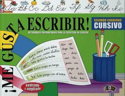 Book Me Gusta Escribir Segundo Cuaderno Cursivo