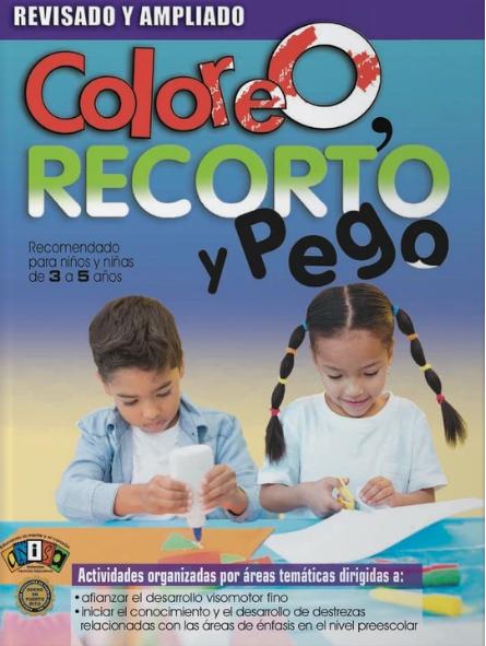 Book Coloreo, Recorto y Pego- Preescolar