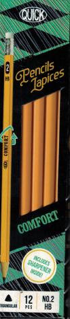 Wood Pencil Triangular Comfort (dz)