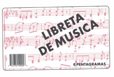 Music Book 6 Pentagramas