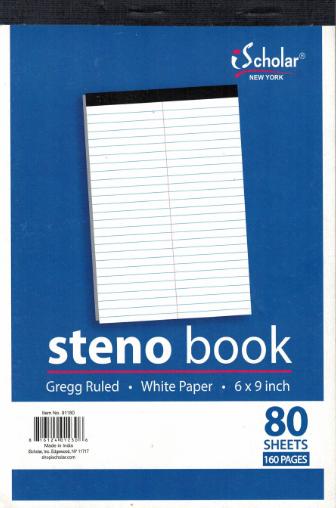 Steno Book Cordon (80 pgs.)