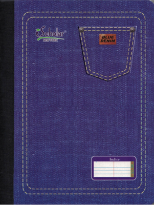 Libreta Indice/ Index- Blue Denim