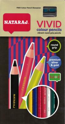 Colored Pencil Nataraj (pk-14) Vivid