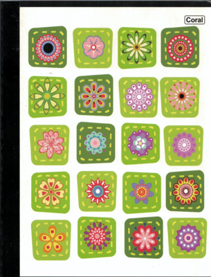 Notebook Lrg Regular Flowers