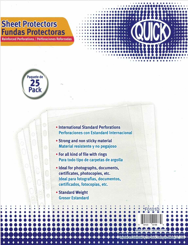 Sheet Protectors (pk-25)