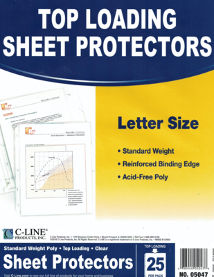 Sheet Protector Clear (pk-25)