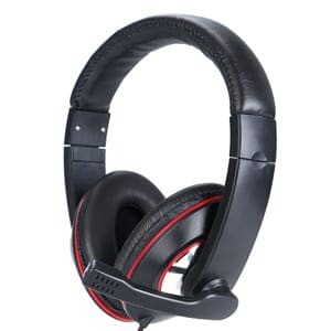 USB headset deluxe with microphone and volume control