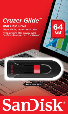 Pen Drive 64GB USB 2.0, Flash Drive