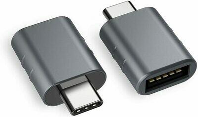 Adaptador USB C a USB, Plateado