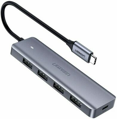 4-Port USB-C to 3.0 USB Hub