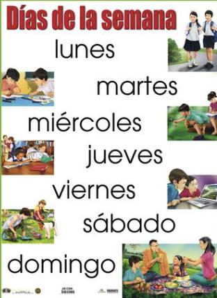 Poster Días de la Semana