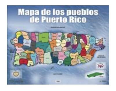 Poster Mapa De Los Pueblos De Puerto Rico