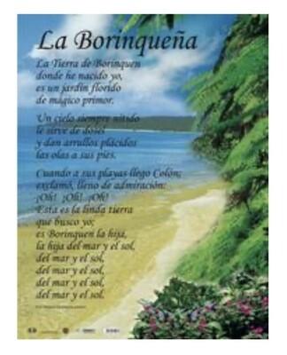 Poster La Borinqueña