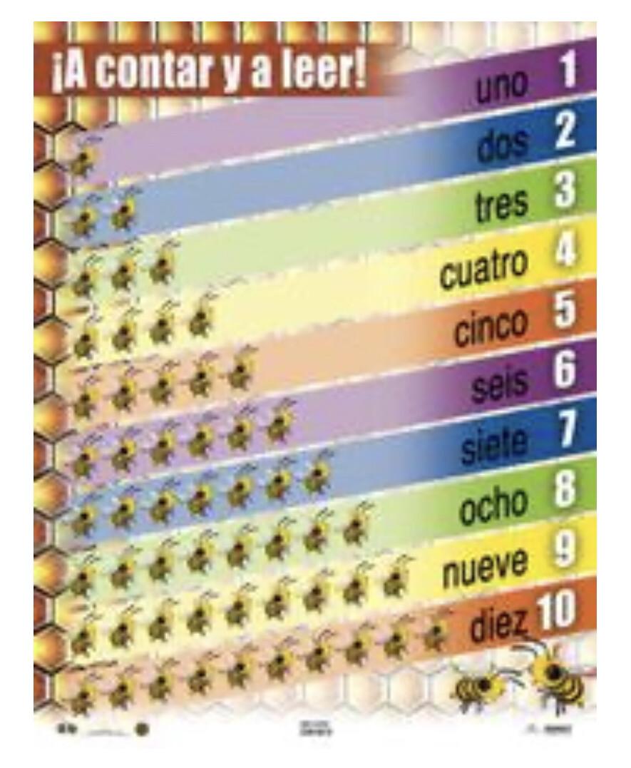 Poster ¡A Contar Y A Leer!