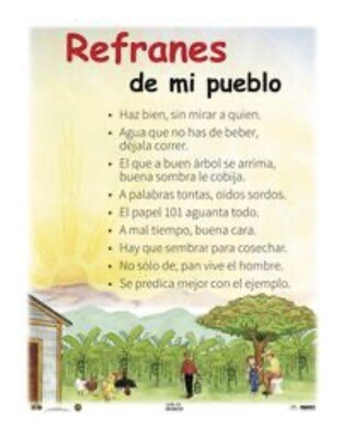 Poster Refranes de mi pueblo