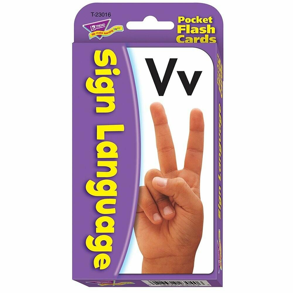 Sign Language Flash Cards